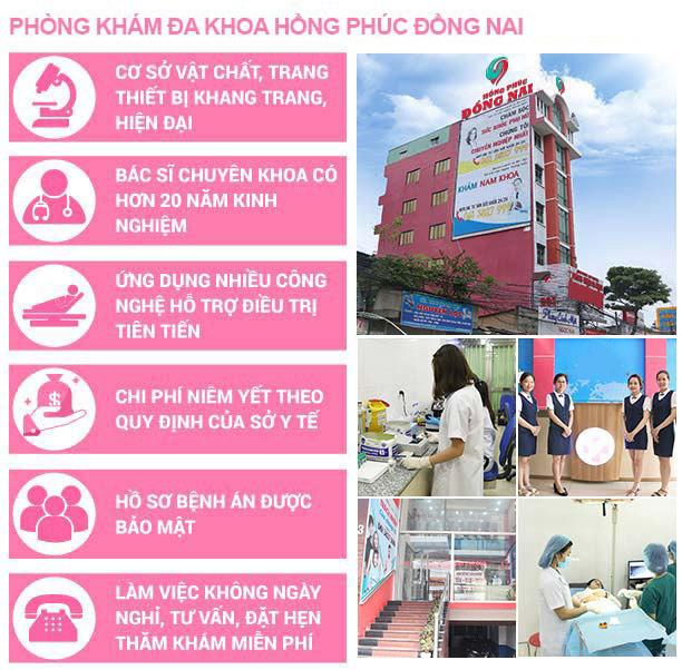 Phòng Khám Đa Khoa Hồng Phúc địa chỉ chữa bệnh nam khoa uy tín tại Đồng Nai