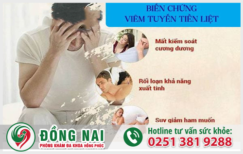 Những nguy hiểm nam giới phải đối mặt khi bị viêm tuyến tiền liệt